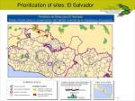 prioritization of sites el salvador