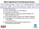 most significant contributing causes