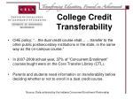 college credit transferability