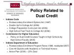 policy related to dual credit