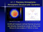 4 1 1 planetary atmospheres atmospheric structure and dynamics