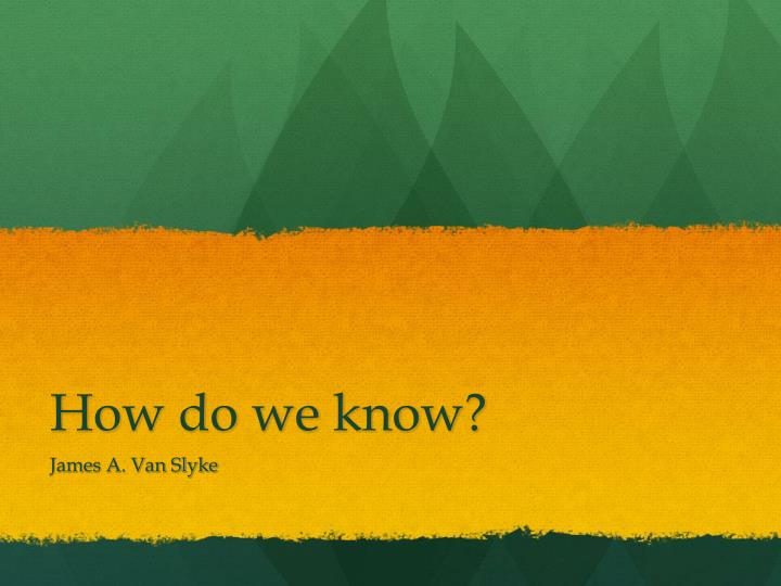 how do we know n.