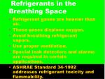refrigerants in the breathing space