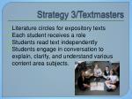 strategy 3 textmasters