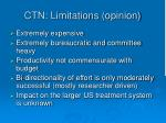 ctn limitations opinion