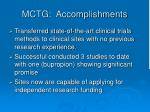 mctg accomplishments