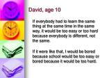 david age 10