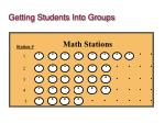 getting students into groups