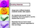 handling materials