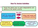how to anchor activities