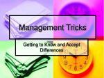 management tricks
