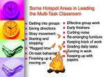 some hotspot areas in leading the multi task classroom