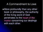 a commandment to love