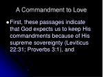 a commandment to love10