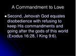 a commandment to love12