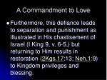 a commandment to love13