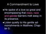 a commandment to love2