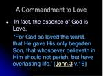 a commandment to love7