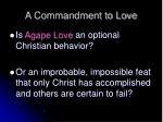 a commandment to love8