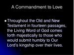 a commandment to love9