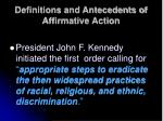 definitions and antecedents of affirmative action