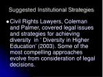 suggested institutional strategies