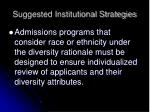 suggested institutional strategies4