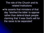 the role of the church and its related institutions2