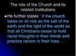 the role of the church and its related institutions3