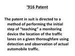 916 patent
