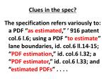 clues in the spec
