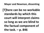 mayer and newman dissenting