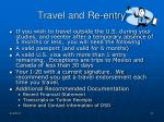 travel and re entry