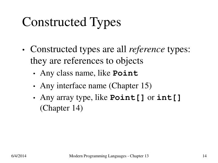 Constructed Types