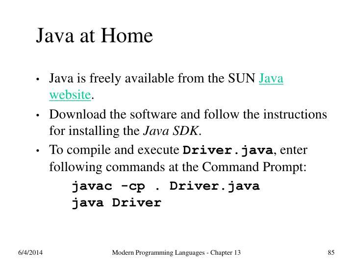 Java at Home