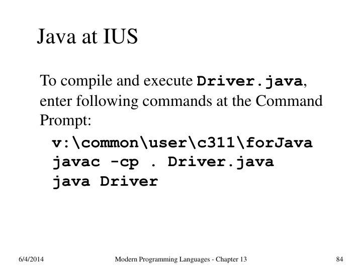 Java at IUS