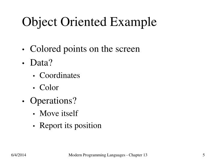 Object Oriented Example