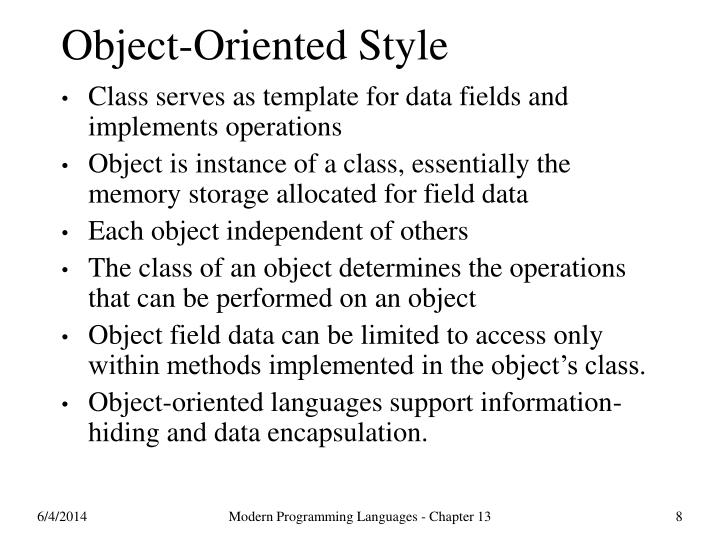Object-Oriented Style