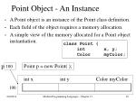 point object an instance