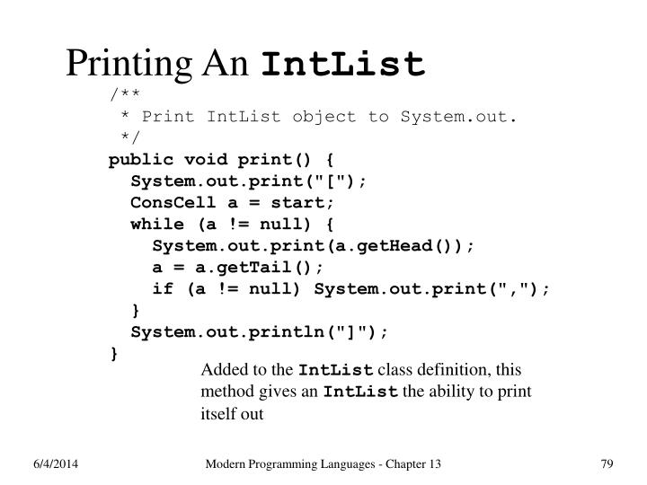 Printing An