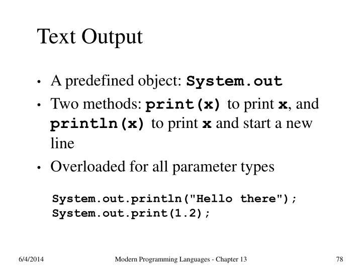 Text Output