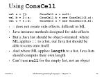 using conscell