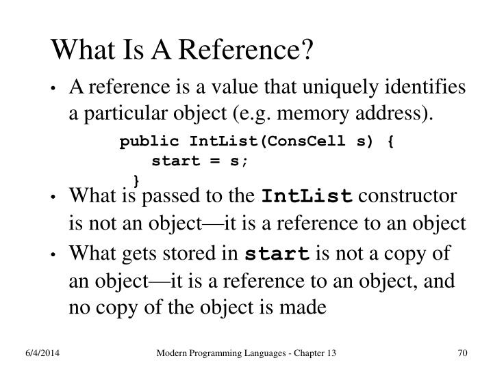 What Is A Reference?